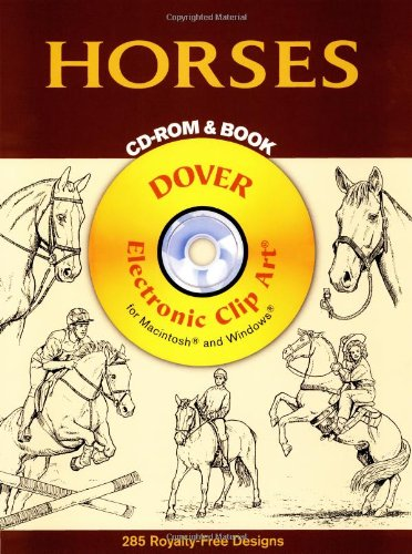 9780486995540: Horses CD-ROM and Book (Dover Electronic Clip Art)