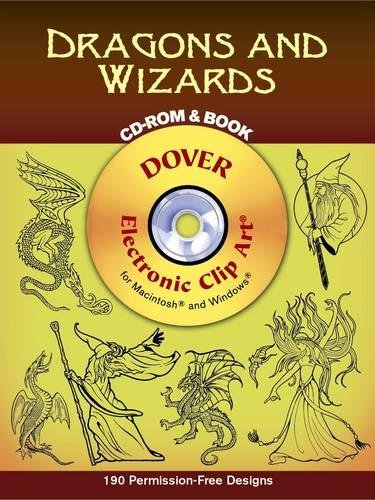 9780486995595: Dragons and Wizards CD-ROM and Book (Dover Electronic Clip Art)