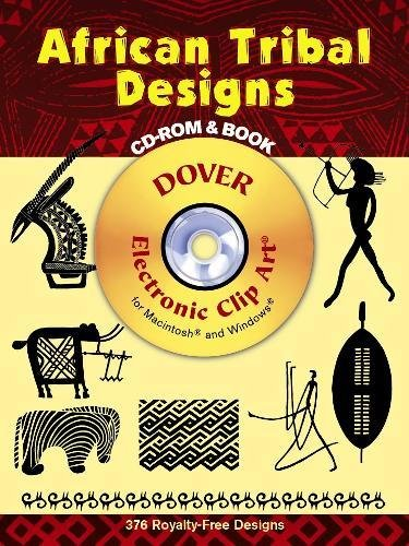 9780486995816: African Tribal Designs CD-ROM and Book (Dover Electronic Clip Art)