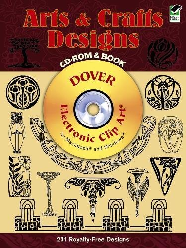 9780486995854: Arts and Crafts Designs CD-ROM and Book (Dover Electronic Clip Art)