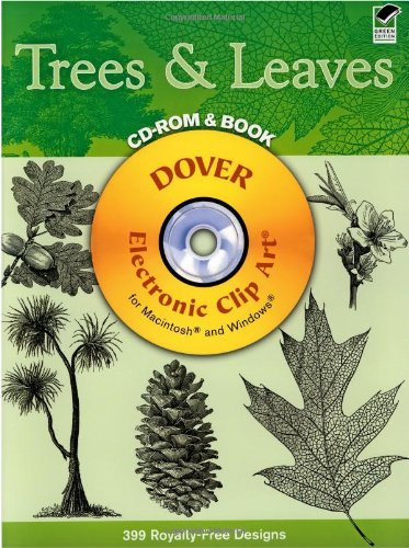 9780486996110: Trees and Leaves CD-ROM and Book (Dover Electronic Clip Art)