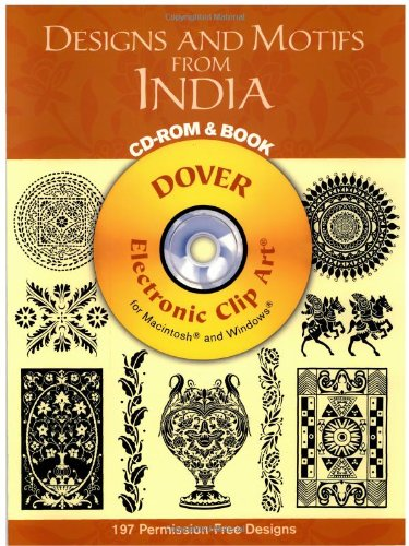 9780486996288: Designs and Motifs from India CD-ROM and Book (Dover Electronic Clip Art)