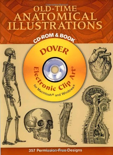 9780486996448: Old-Time Anatomical Illustrations CD-ROM and Book (Dover Electronic Clip Art)