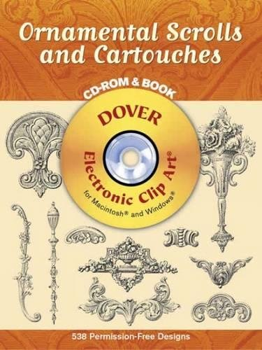 9780486996516: Ornamental Scrolls and Cartouches (Dover Electronic Clip Art)