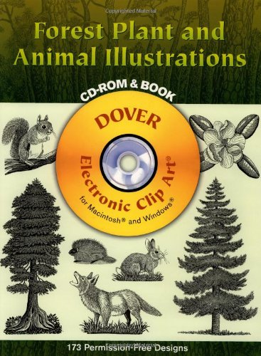 9780486996622: Forest Plant and Animal Illustrations CD-ROM and Book (Dover Electronic Clip Art)