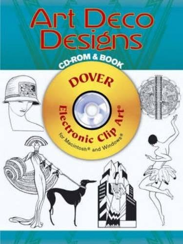 9780486996639: Art Deco Designs CD-ROM and Book (Dover Electronic Clip Art)