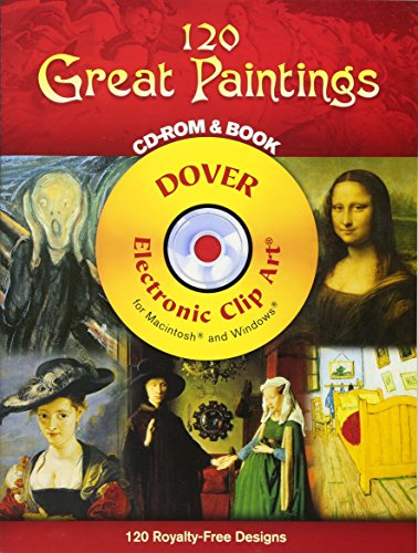 9780486996776: 120 Great Paintings CD-ROM and Book (Dover Electronic Clip Art)