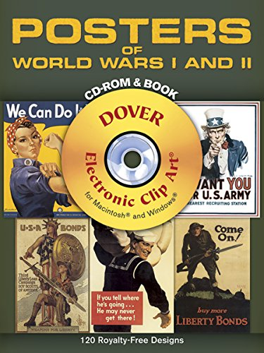 9780486996844: Posters of World Wars I and II CD-ROM and Book (Dover Electronic Clip Art)