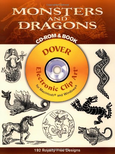 9780486996868: Monsters and Dragons (Dover Electronic Clip Art) (CD-ROM and Book)