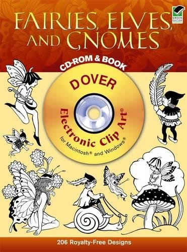 9780486996929: Fairies, Elves, and Gnomes CD-ROM and Book (Dover Electronic Clip Art)