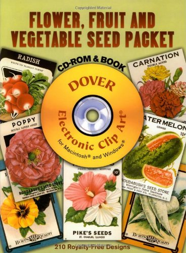 9780486997360: Flower, Fruit and Vegetable Seed Packet (Full-Color Electronic Design)