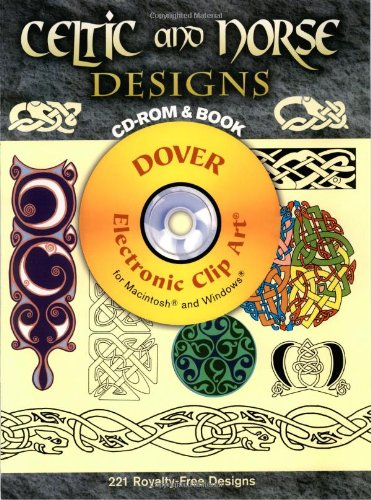 9780486997926: Celtic and Norse Designs CD-ROM and Book (Dover Electronic Clip Art)