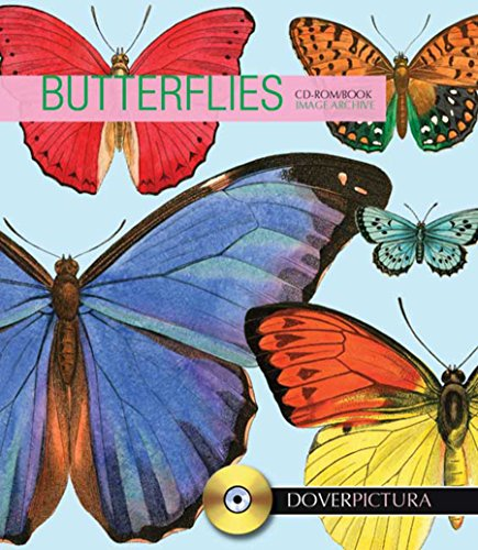 9780486998084: Butterflies (Dover Pictura Electronic Clip Art)