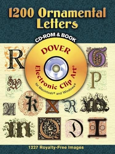 9780486998145: 1200 Ornamental Letters (Dover Electronic Clip Art)
