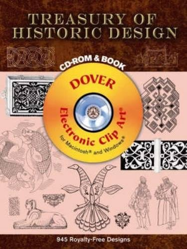 9780486998213: Treasury of Historic Design CD-ROM and Book (Dover Electronic Clip Art)