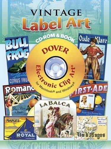 9780486998374: Vintage Label Art CD-ROM and Book (Dover Electronic Clip Art)