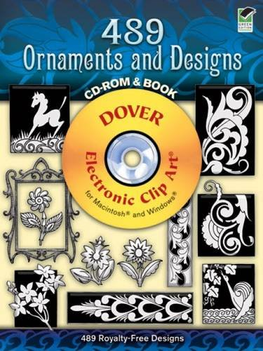 9780486998596: 489 Ornaments and Designs (Dover Electronic Clip Art) (CD-ROM and Book)