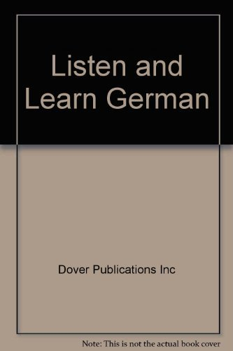 9780486999012: Listen and Learn German