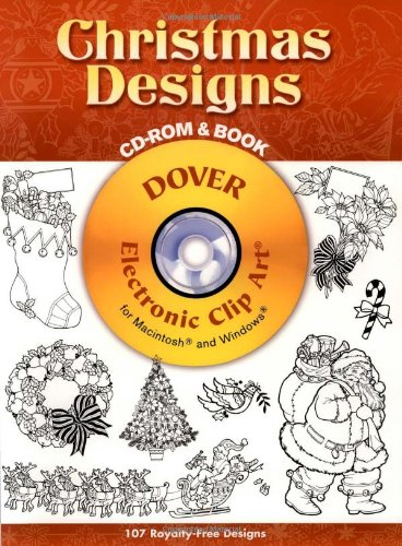 9780486999418: Christmas Designs CD-ROM and Book (Dover Electronic Clip Art)