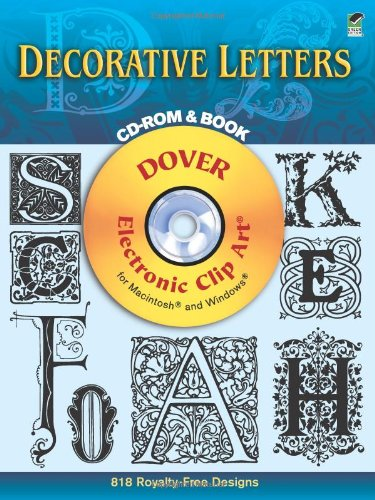 9780486999425: Dover Decorative Letters (Dover Electronic Clip Art)
