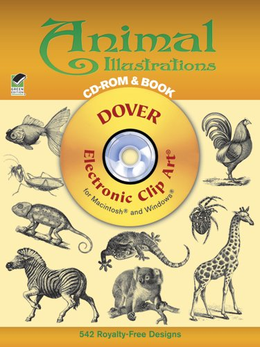 9780486999463: Animal Illustrations CD-ROM and Book (Dover Electronic Clip Art)