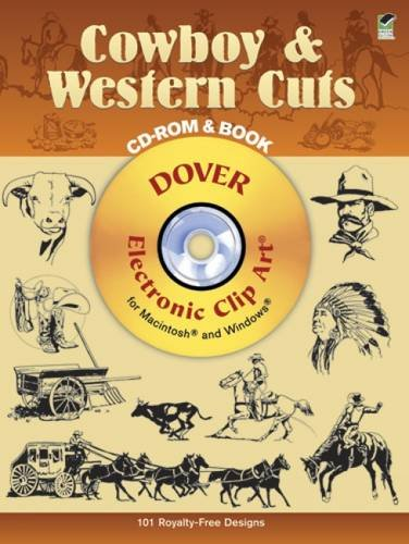 9780486999487: Cowboy & Western Cuts: Electronic Clip Art for Macintosh and Windows (CD-ROM and Book)