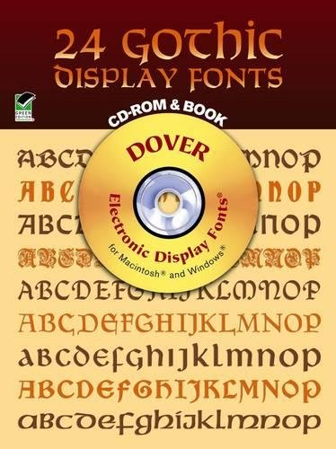 24 Gothic Display Fonts. CD Rom and Book.