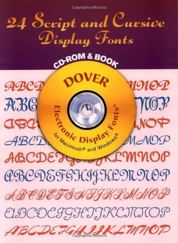 9780486999616: 24 Script and Cursive Display Fonts (Dover Electronic Display Fonts S.)