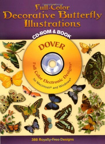 9780486999661: Full-Color Decorative Butterfly Illustrations CD-ROM and Book (Dover Electronic Clip Art)