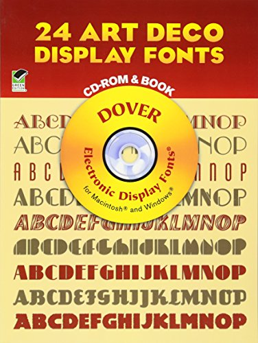 9780486999685: 24 Art Deco Display Fonts CD-ROM and Book (Dover Electronic Clip Art)
