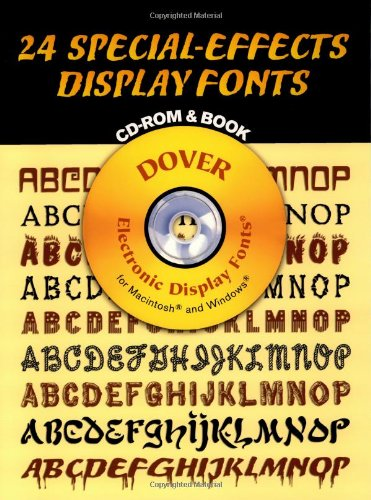 9780486999692: 24 Special-Effects Display Fonts CD-ROM and Book (Dover Electronic Display Fonts)