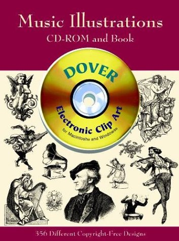Music Illustrations (Dover Electronic Clip Art) (CD-ROM and Book): Dover