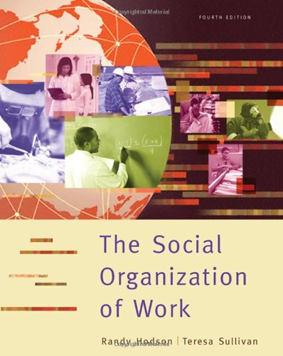 9780495003717: The Social Organization of Work