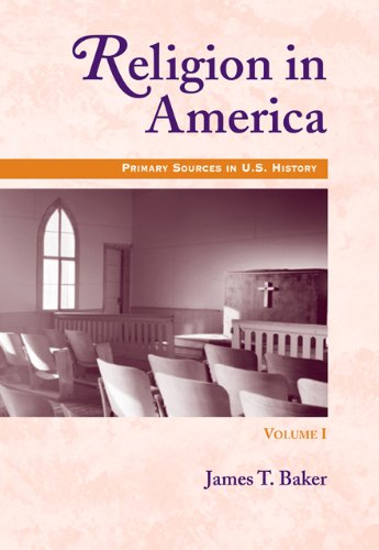 9780495005117: 1: Religion in America, Volume I: Primary Sources in U.S. History Series