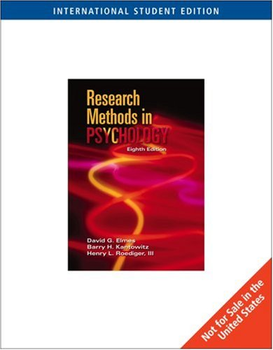 9780495007036: Research Methods in Psychology
