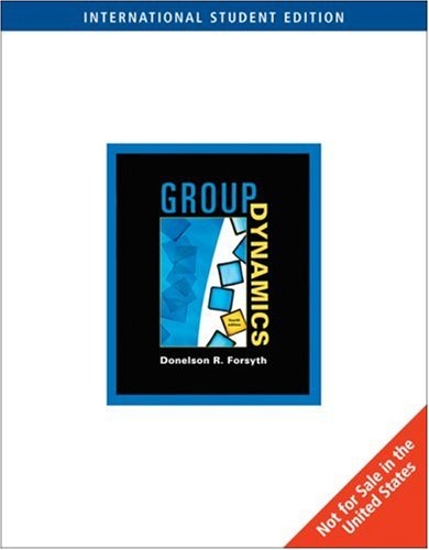 9780495007296: Group Dynamics