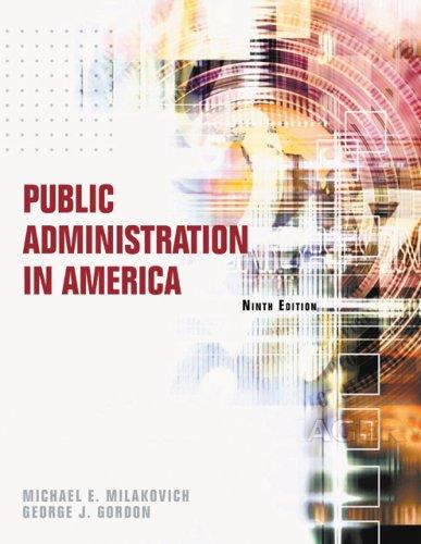 9780495007395: Public Administration in America