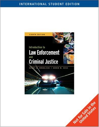 9780495008095: Introduction to Law Enforcement and Criminal Justice