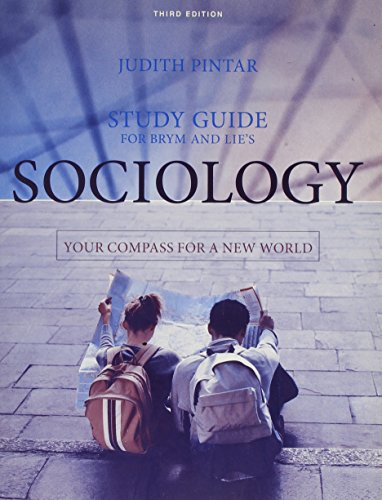 9780495008378: Study Guide for Brym/Lie's Sociology: Your Compass for a New World, 3rd