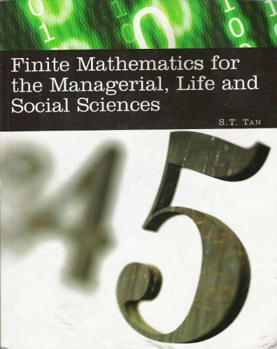 9780495010289: Finite Mathematics for the Managerial Life &Social Sciences - 8th edition