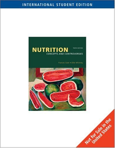 9780495011835 Nutrition Concepts And Controversies Iberlibro