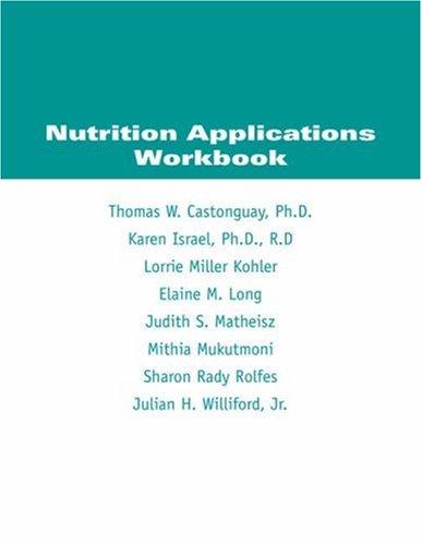 9780495011842: Nutrition Applications Workbook
