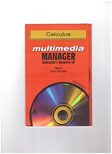 Instructor's Resource Multimedia Manager CD-ROM Stewart's Calculus: STEWART