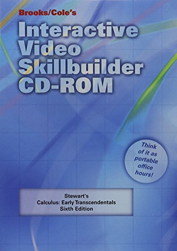 9780495012375: Interactive Video Skillbuilder CD-ROM for Stewart's Calculus: Early Transcendentals, 6th