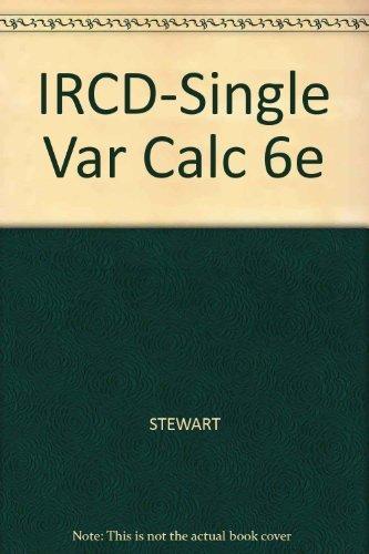9780495012412: IRCD-Single Var Calc 6e