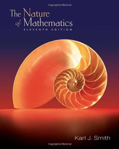 9780495012726: Nature of Mathematics (11th Edition)