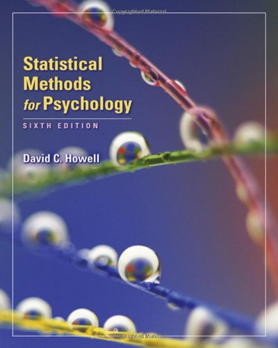 statistical methods for psychology by david c howell pdf