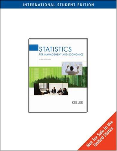 9780495013396: Statistics for Management and Economics (7th International Edition )