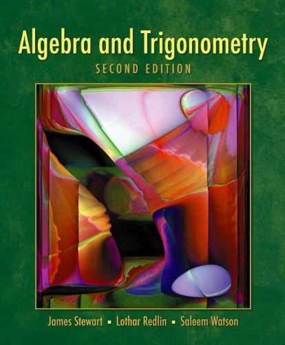 9780495013594: Student Solutions Manual for Stewart/Redlin/Watson's Algebra and Trigonometry, 2nd