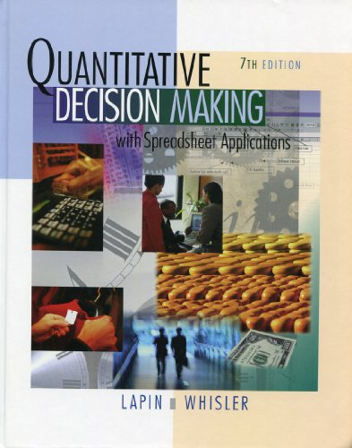 9780495015628: Quantitative Decision Making with Spreadsheet Applications, 7th Edition